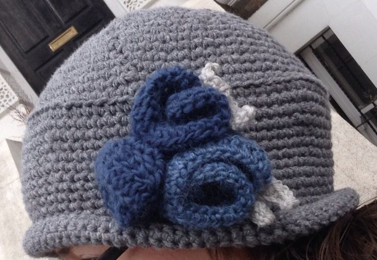 Crocheted hat Downton Abby style. 2015.