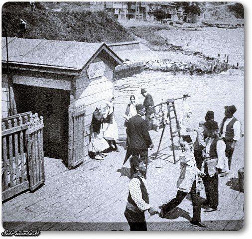 Rumelikavağı vapur iskelesi 1900'ler.