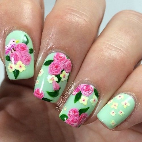 Floral nail art, is it yay or nay? ♥