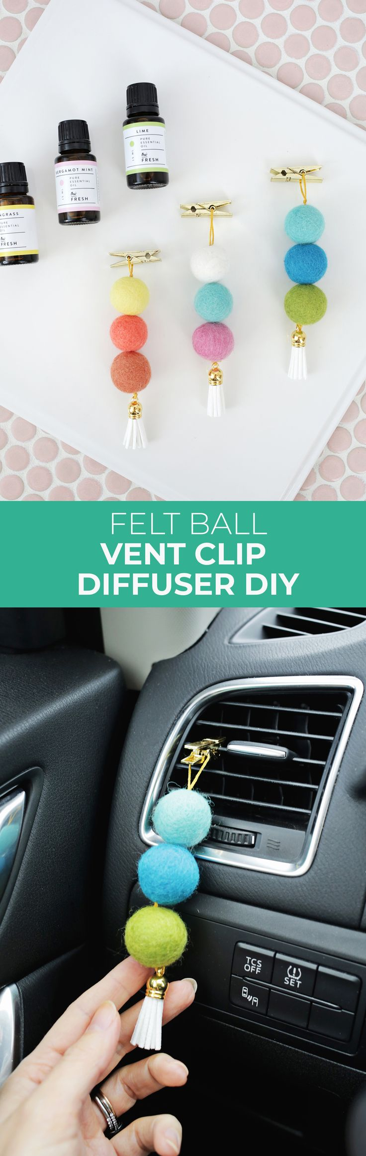 Easy Wool Ball Essential Oil Diffuser For Your Car! – A Beautiful Mess