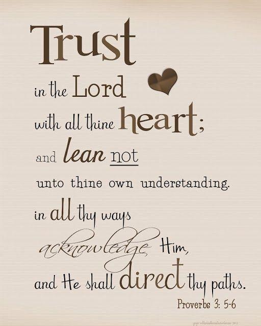 Bible Verse / Proverbs 3:5-6 / Prints