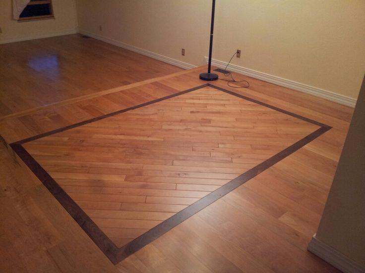 5 solid beech with walnut border 3 diagonal beech for Hardwood floors albuquerque