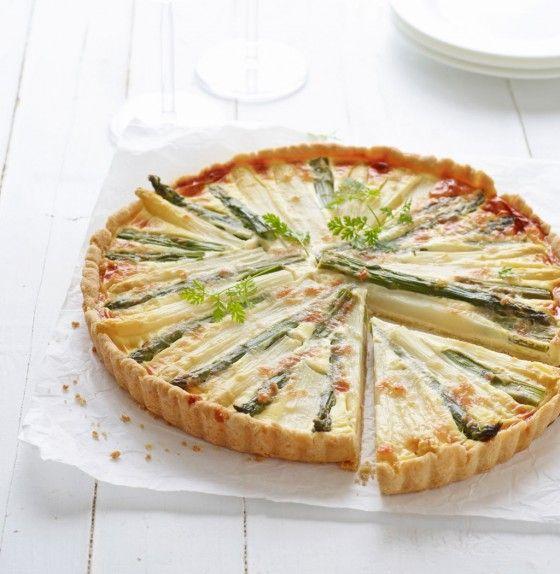 Spargel-Quiche - Vegetarisch. Wie die Lauch-Quiche aus Tines Backstube veganisieren - (Pflanzen-Sahne, Kartoffelstärke, Sojamehl)
