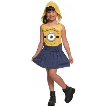 Girls Minion Costume - Minions Movie Costumes