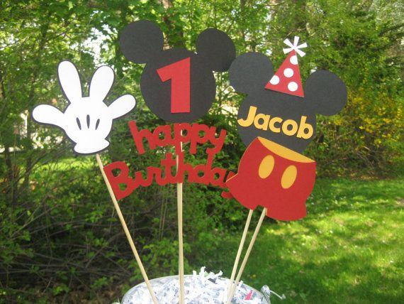 Mickey Maus Geburtstag Tisch Mittelpunkt von PeanutGalleryStore