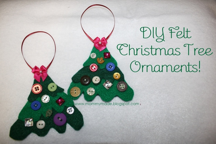 31 best images about button projects on pinterest trees for Easy christmas felt crafts