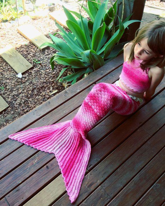 Halter bikini top  mermaid costume baby toddler by LaMalaTae