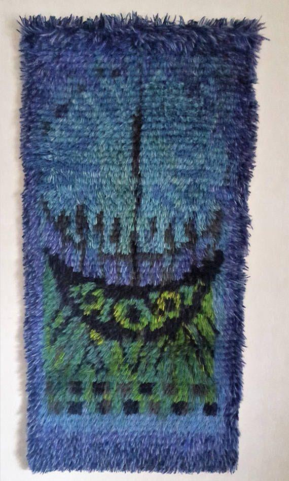Signed handmade handknot vintage 1970 s multi color viking