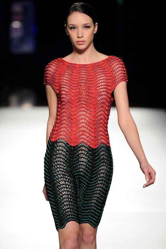 New Crochet Fashion from Helen Rodel #crochetdress