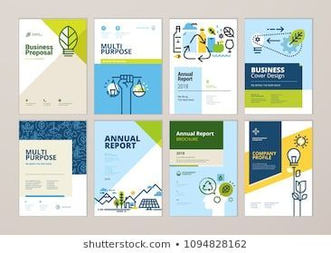 Set of brochure and annual report cover design templates of nature, green technology, renewable energy, sustainable development, environment. Vector i…