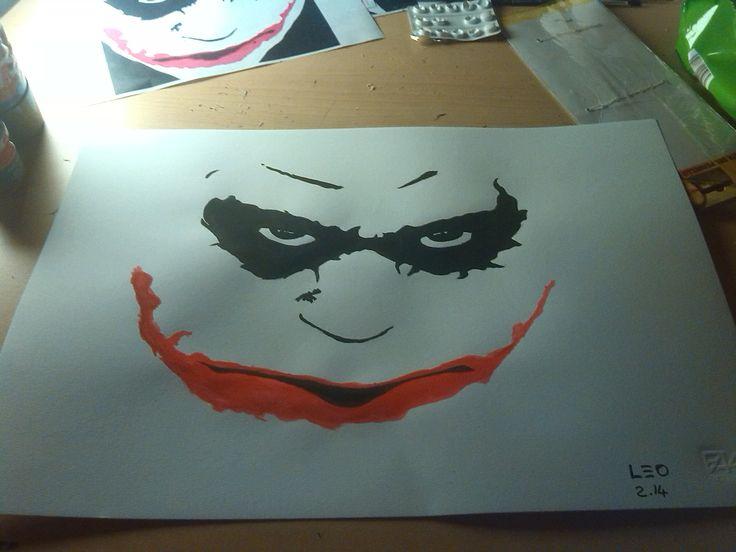 joker in stile pop art tempera su carta