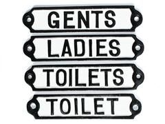 Toilet Door Signs Cast Metal Toilets Ladies U0026 By YesterHomeUK