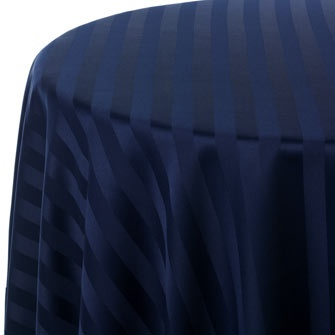 Navy Stripe On Stripe Print Table Linen Rentals