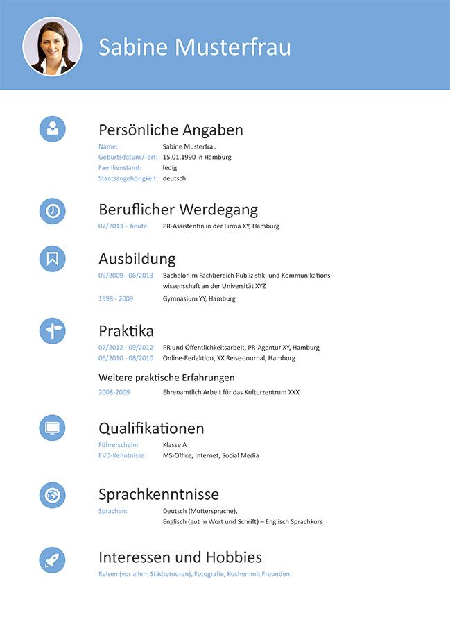 53 best Lebenslauf Muster & Vorlagen images on Pinterest   Cv resume ...