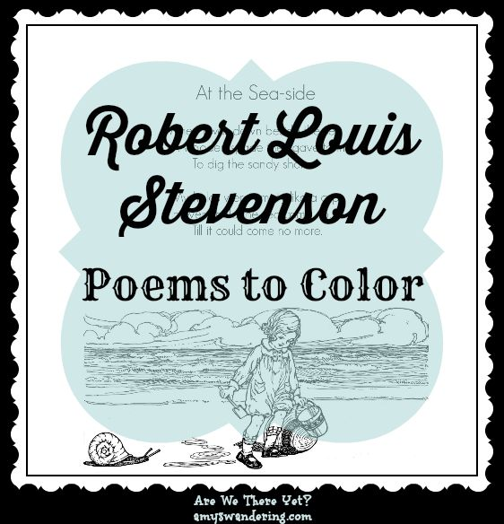 FREE Robert Louis Stevenson Poems to Color