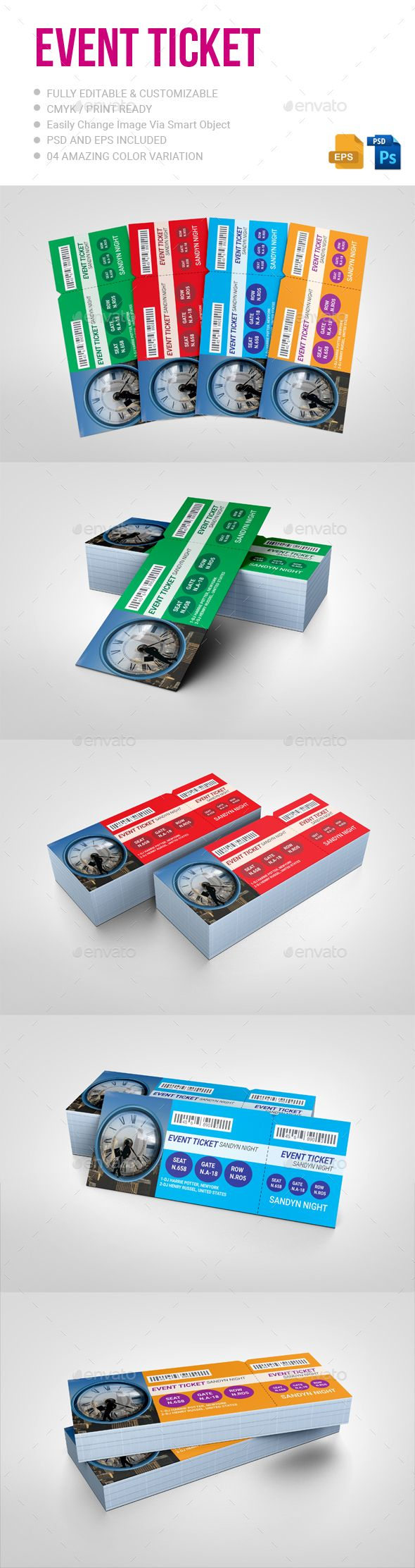 Event Ticket  #event #concert #season • Click here to download ! http://graphicriver.net/item/event-ticket/15780878?ref=pxcr