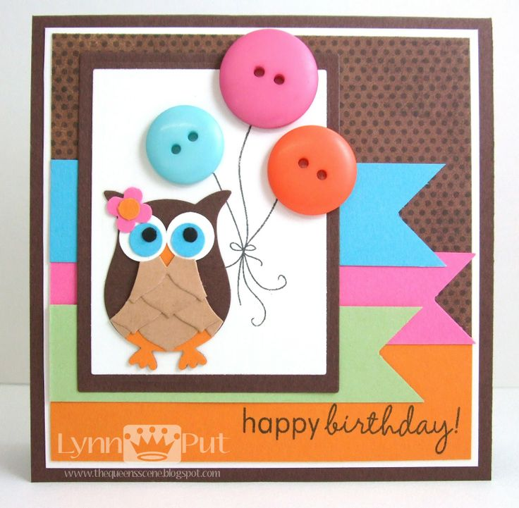 Uses Stampin' Up's Owl punch to make this adorable birthday card. There are also instructions using Pillow Box die and punches to make a coordinating owl treat holder box.