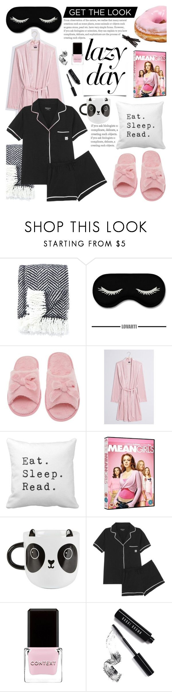 """Sleep In: Lazy Day"" by glamorous09 ❤ liked on Polyvore featuring Kate Spade, Deluxe Comfort, Sass & Belle, DKNY, Context, Bobbi Brown Cosmetics and LazyDay"