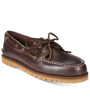 Sperry Men's A/O Mini Lug Boat Shoes - Brown 11.5