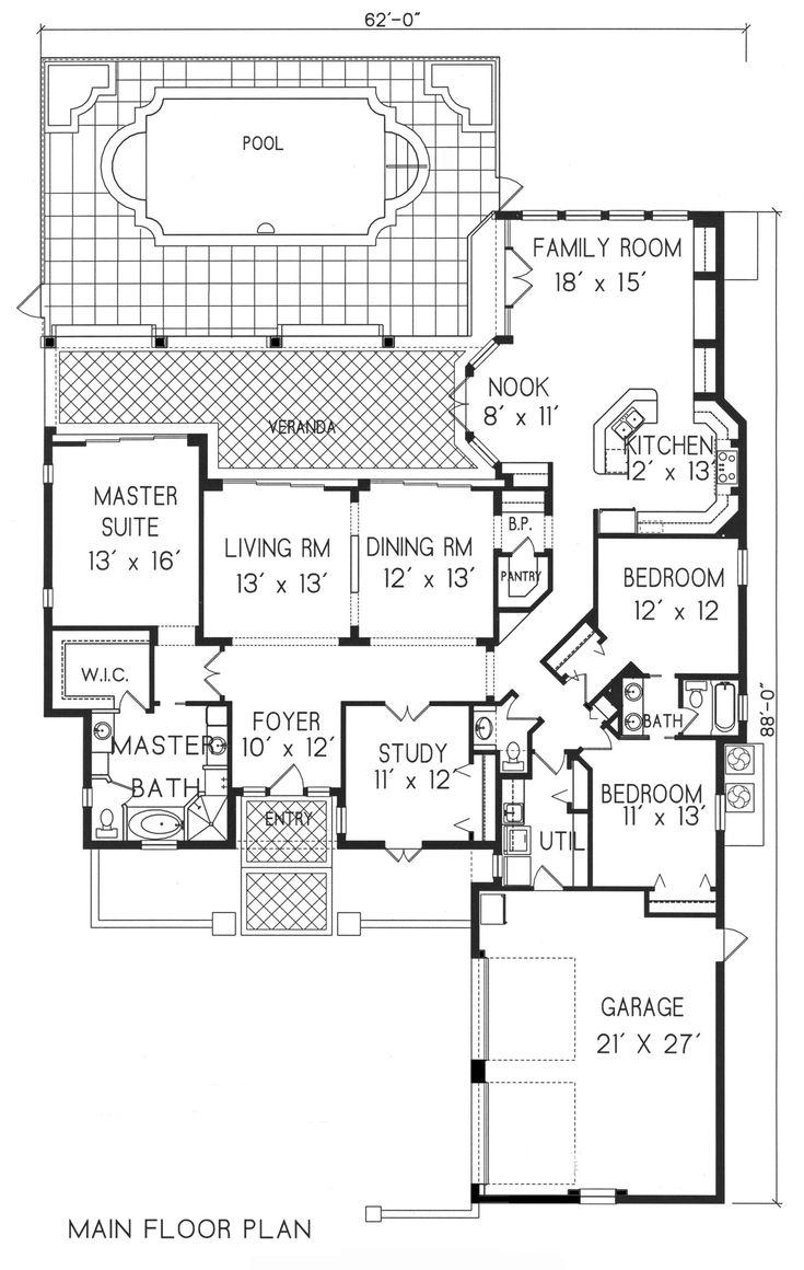 1363 Best Floorplans Images On Pinterest House Design