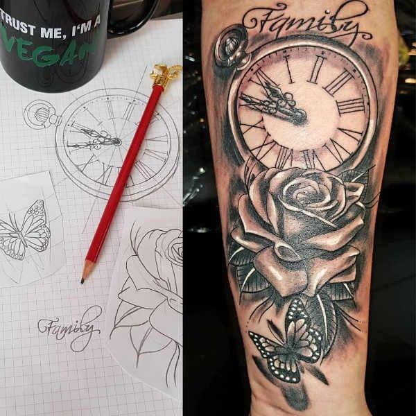 Tatuaz Z Zegarem Historia I Symbolika Pomysł Na Tatuaż