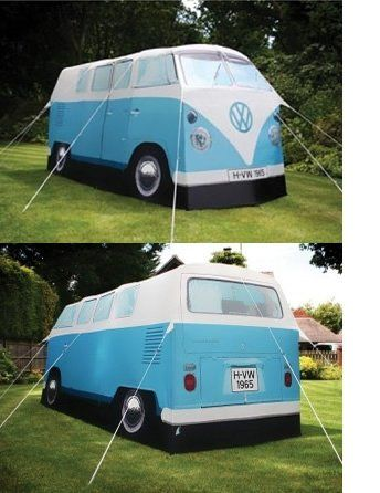 This is a TENT! This is an ultimate want. Be the talk of the camp ground and make yourself a landmark with this tent. The next best thing is the real van, but who can afford that these days?