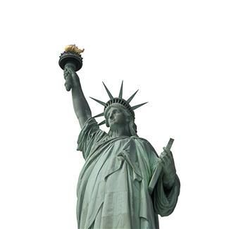 Did you know the Statue of Liberty's nose is 4 feet 6 inches long? How many noses long do you think her torch-bearing arm is? Find out at Howtosmile.org. by applying concepts of ratio and proportion. In the PBS activity How Many Noses Are in Your Arm, estimate the statue's nose-to-arm ratio, then compare your estimate to the real proportional data. http://www.howtosmile.org/record/13640