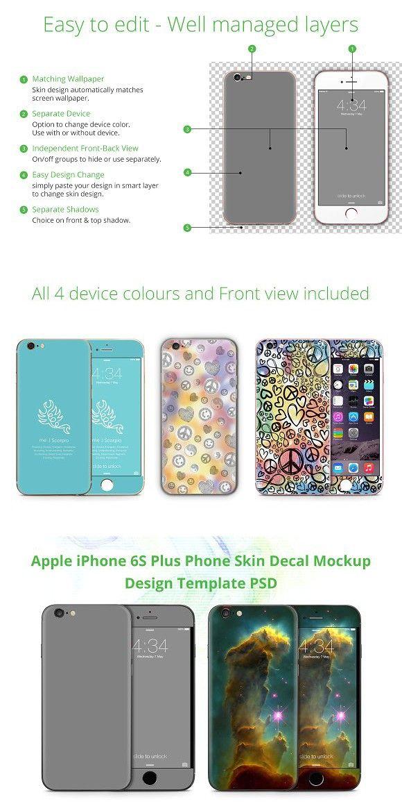 Iphone 6 6s Plus Phone Skin Design Phone Matching Wallpaper Iphone