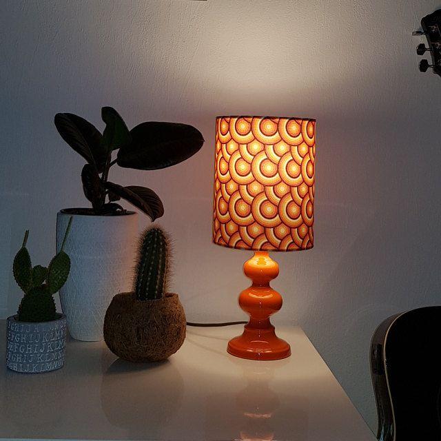 Oranje Lampenkap Retro Lampenkap Retro Decor 1960 Lamp 60s Etsy In 2020 Small Bedside Lamps Orange Lampshade Retro Lampshade