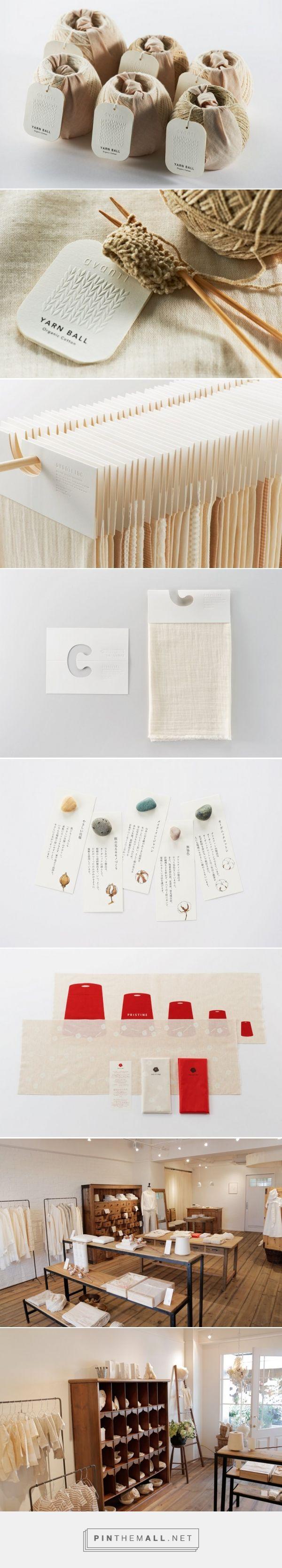 Identity For Organic Cotton Brand Pristine by Daigo Daikoku | Spoon & Tamago. Love the tags!