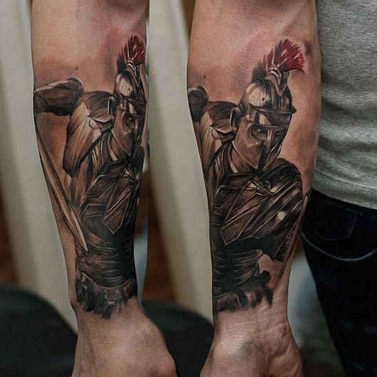 Gladiator tattoo done by Evegenii.#workproud #wearproud - Chronic Ink - Google+