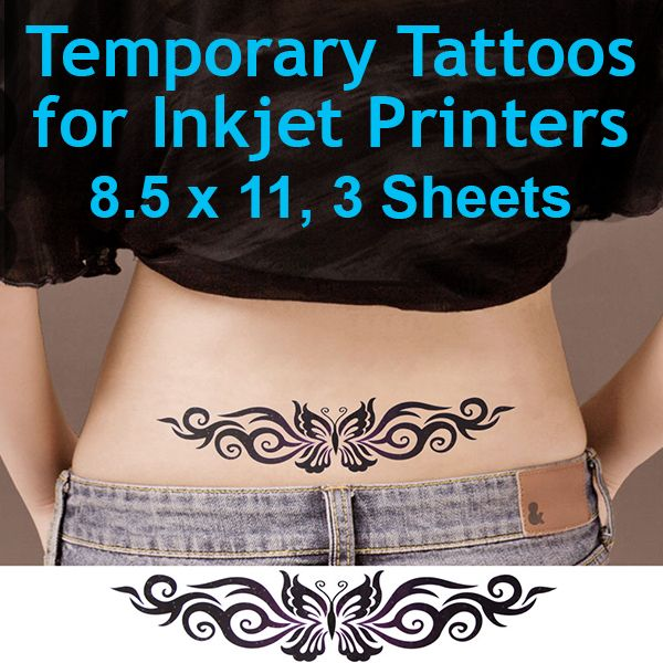 HOW IT WORKS TEMPORARY TATTOO PAPER FOR INKJET PRINTERS