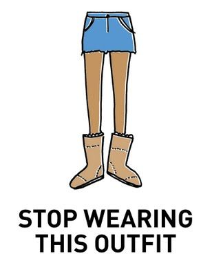 It's either cold enough for uggs or warm enough for shorts... It cannot be bothMinis Skirts, Ugg Boots, Laugh, Uggs, Funny, Shorts, Wear, Serious, Uggboots