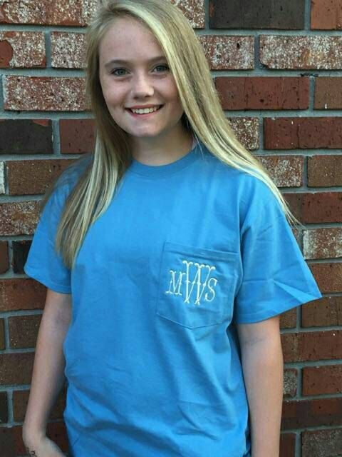 Check out this item in my Etsy shop https://www.etsy.com/listing/246584536/sale-1-week-only-monogrammed-pocket-tee