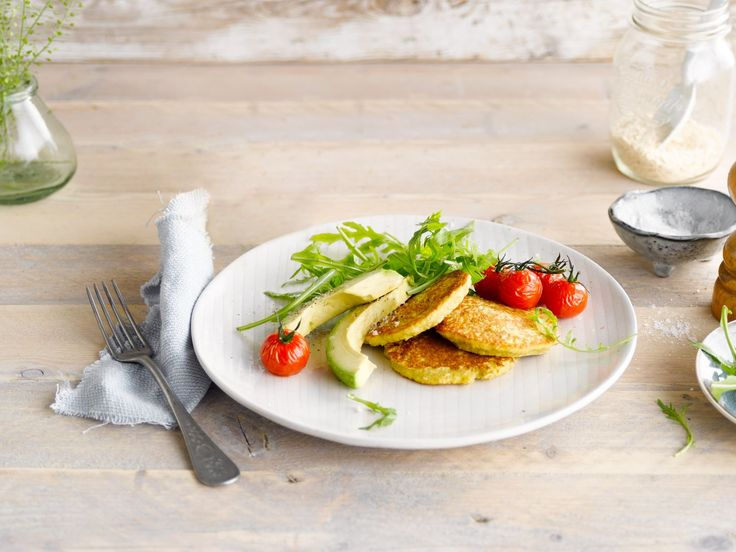 Start the day with savoury pancakes with Alpro Almond (Unroasted Unsweetened) Drink