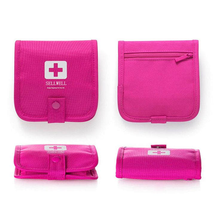 Mini First Aid Emergency Survival Bag For Travel Outdoor Carrying Medicine Kit Pill Storage Bag Organizer Camping Hiking Holder
