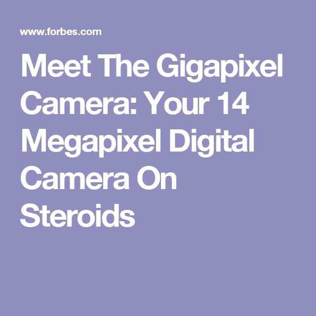 Meet The Gigapixel Camera: Your 14 Megapixel Digital Camera On Steroids