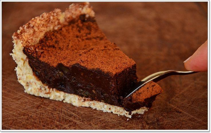 Tarte de chocolate crua