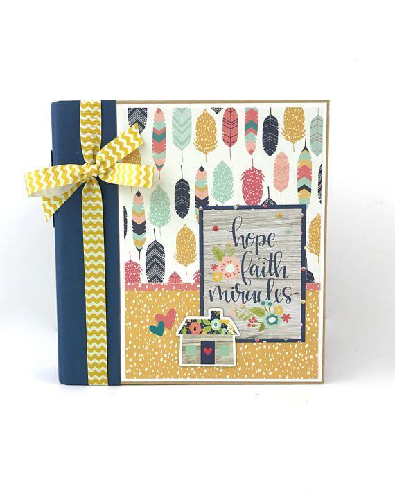 Faith Prayer Journal Scrapbook Mini Album Kit or Premade Bible