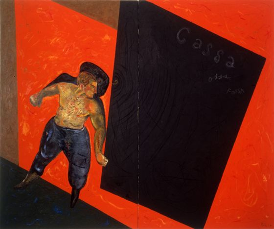 Sandro Chia, Ossa, cassa, fossa 1978, private collection, courtesy Galleria 1000eventi, Milan