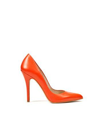 Shoe inspiration. Orange shoe from www.zara.com