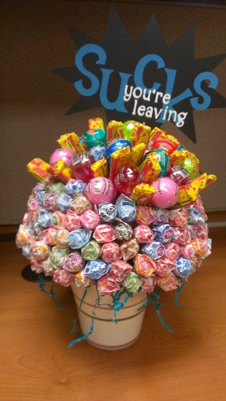 Lollypop bouquet for coworker's last day | My Projects ...