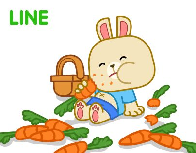"""Check out new work on my @Behance portfolio: """"Happy Little Bunny - Sticker for LINE"""" http://be.net/gallery/38332861/Happy-Little-Bunny-Sticker-for-LINE"""