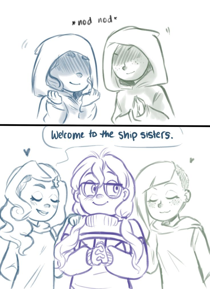 There you have it: The ship sister trio. (meanwhile the hetalia fandom starts screeching because i totally ripped this off the bad touch trio)