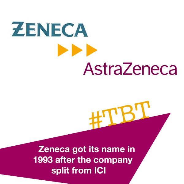 When the company split from Imperial Chemical Industries in 1993, a new name was needed. The first chief executive, David Barnes, wanted a name starting at either the top of end or the alphabet and one that was phonetically memorable but had no associations or meaning. He decided on #Zeneca. Today, our name has both ends of the alphabet! #TBT #AstraZeneca