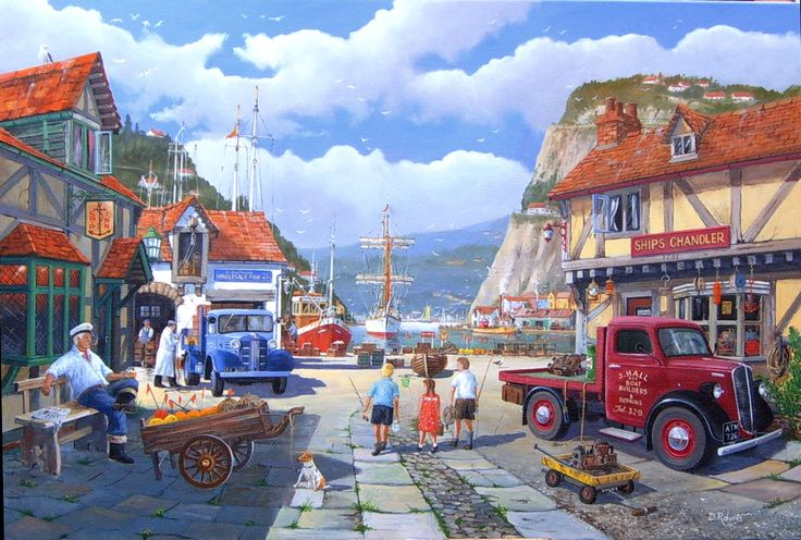 Busy harbour 1960's