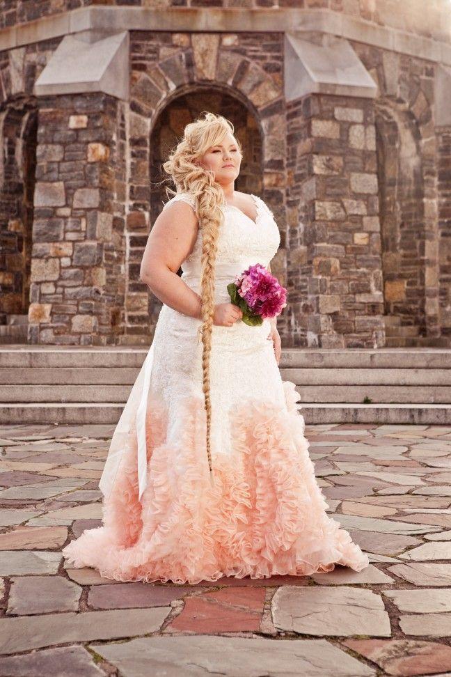 Rapunzel plus size wedding gowns and older bride on pinterest for Plus size wedding dresses for mature brides