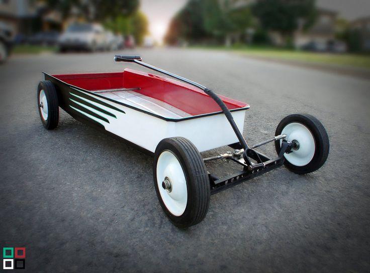 Custom Kids Wagon, Hot Rod Wagon, 3 Colour Choices.. $450.00, via Etsy.