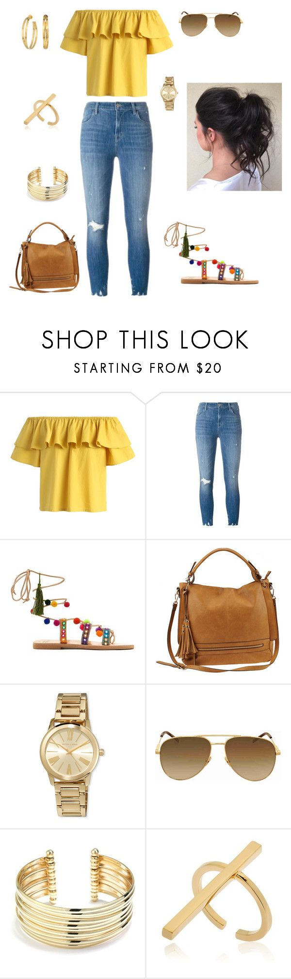 Sunshine - by @suebmoe by suebmoe on Polyvore featuring Chicwish, J Brand, Mabu, Urban Expressions, Yves Saint Laurent, Belk Silverworks, Schield Collection, Tory Burch and MICHAEL Michael Kors