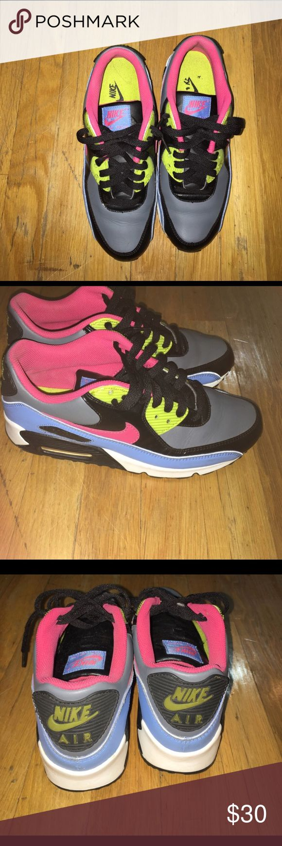 Nike Air Max Kids Sz 6.5 Grey, black, pink green Big Kids Sz 6.5 Nike Shoes Sneakers
